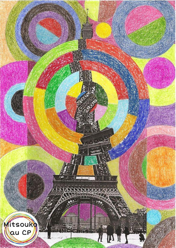 Vertigineuse tour eiffel de robert delaunay art visuel enseignement art plastique arts - Coloriage delaunay ...