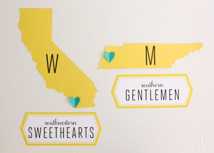 Custom Bathroom Signs For A Modern Wedding South By Southwest - Custom bathroom signs