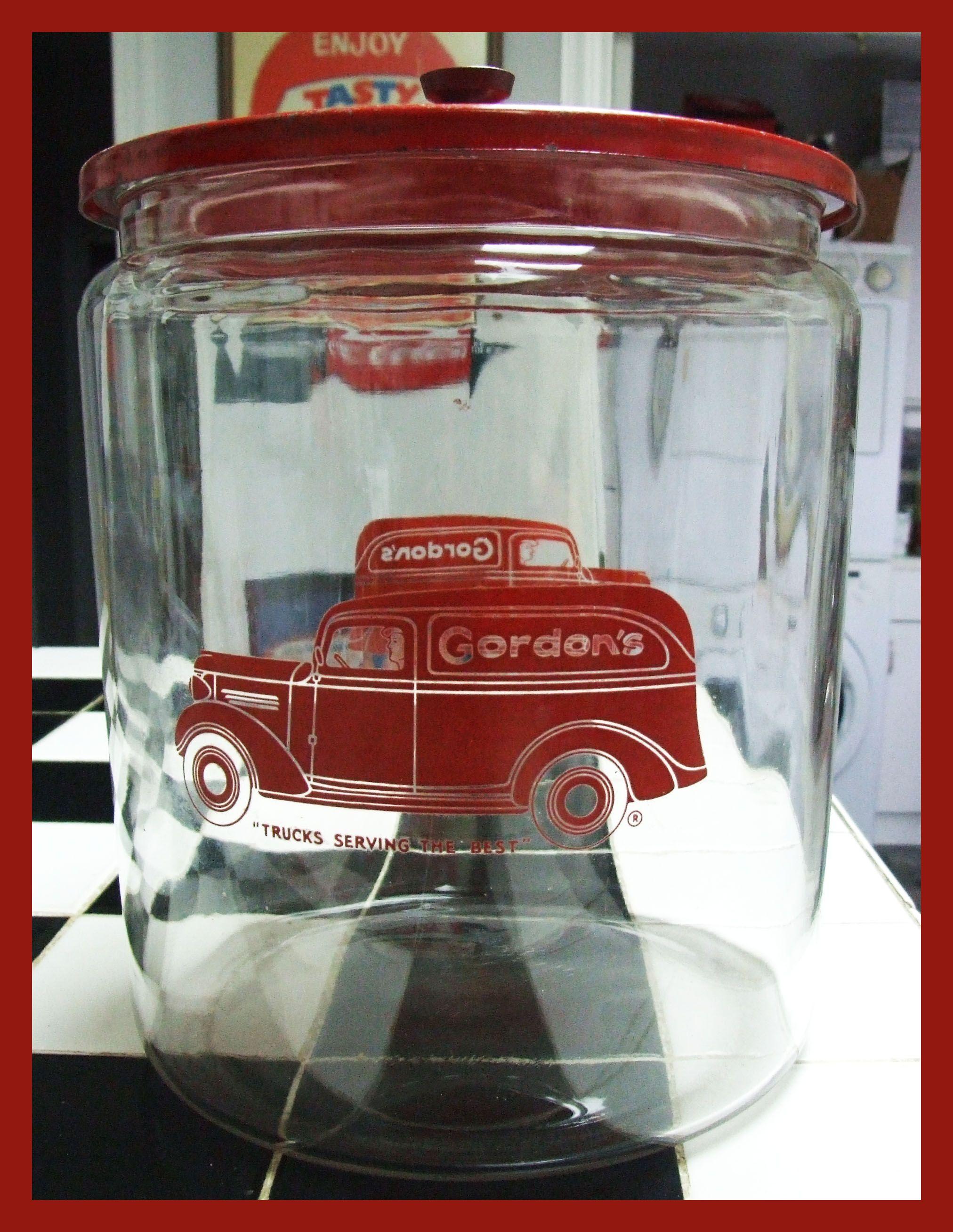 Large Gordons jar Vintage jars, Jar, Vending machine