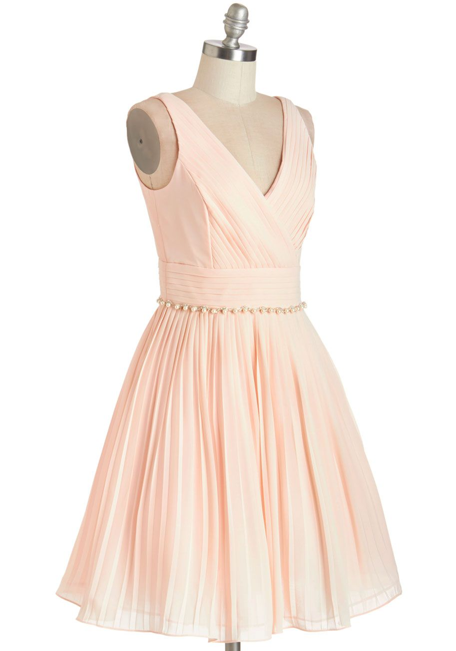 Peach dress for wedding guest  Peach and Every Guest Dress  Mod Retro Vintage Dresses  ModCloth