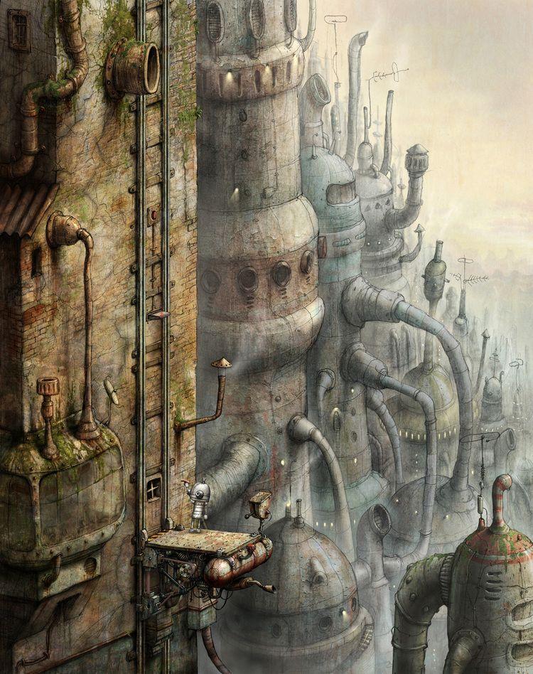 Machinarium Wall Jpg Amanita Design Art Game Art