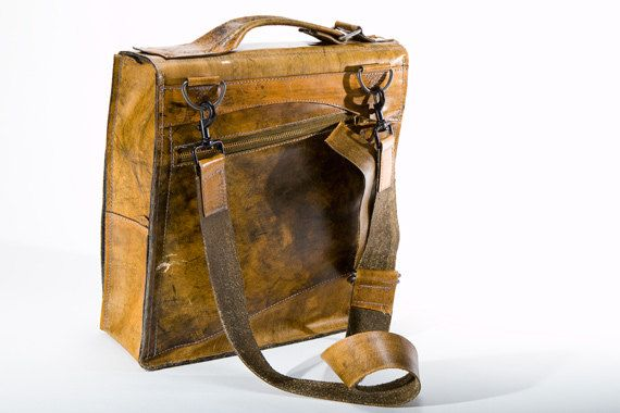 Functional leather bag.