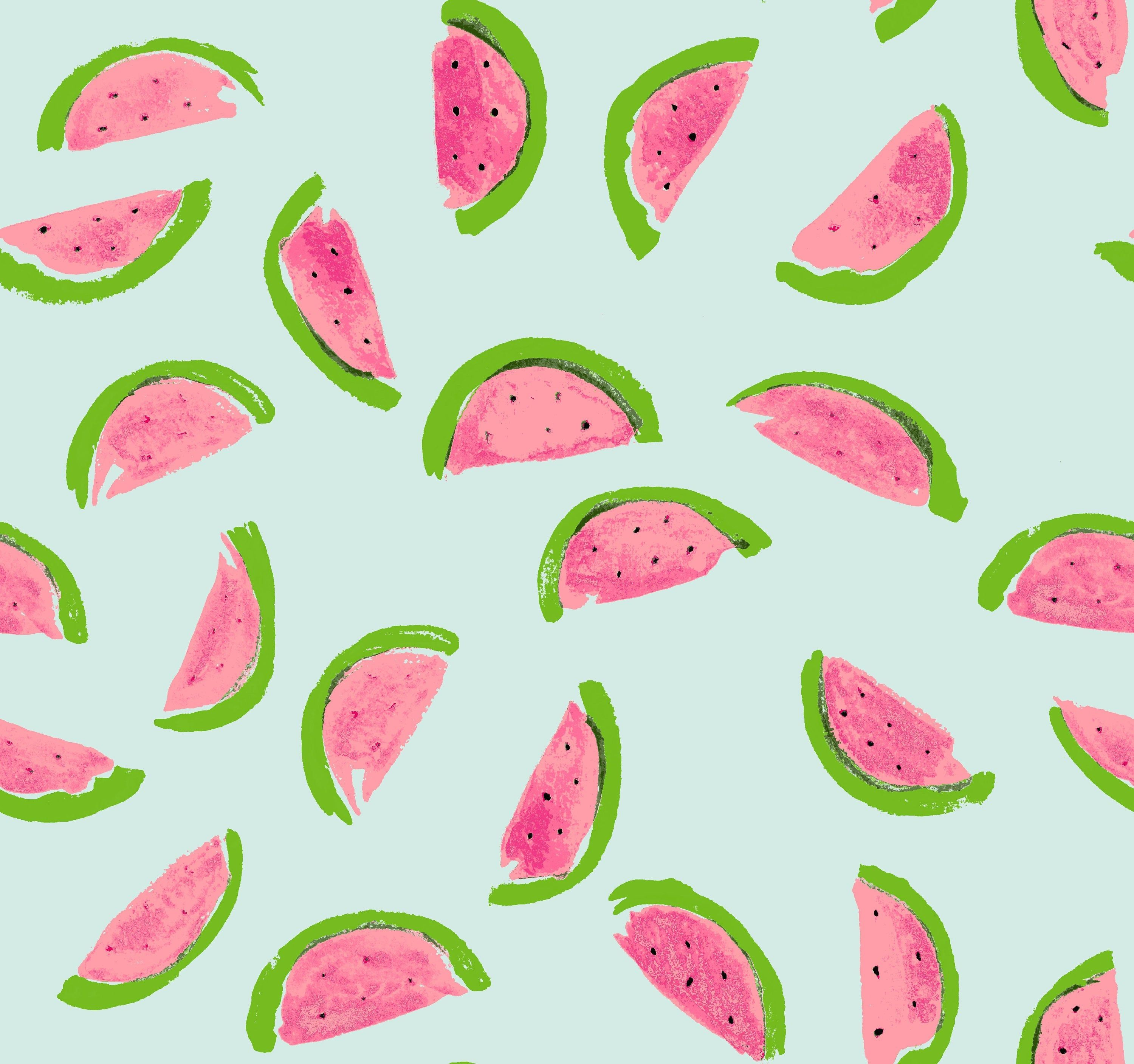 Watermelon Digital Printed Jersey Fabric, Summer Fabric By Yard, Cotton Elastic Soft Comfortable Fabric, Mother Gift, Legging Project, Green