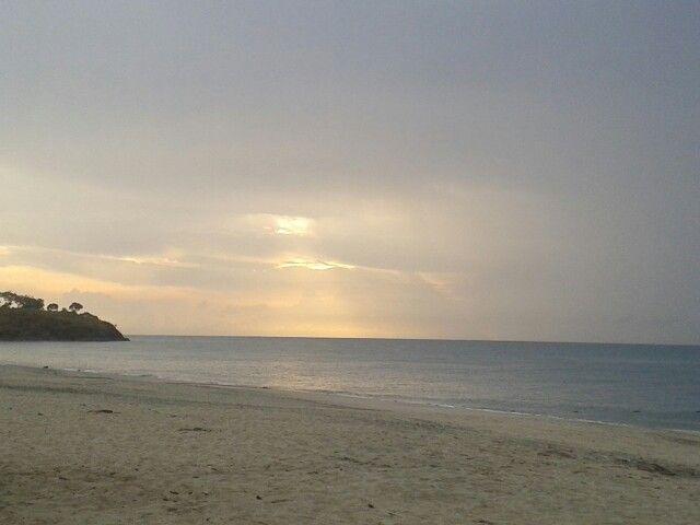 Atardecer océano pacífico