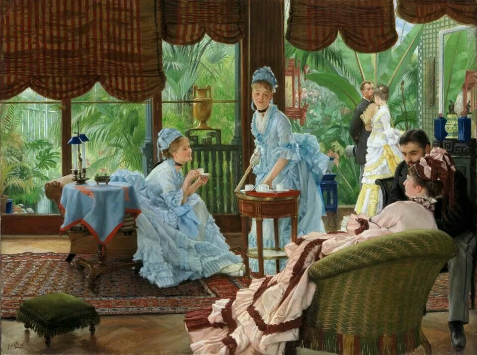 James Tissot - In the Conservatory 1875/78