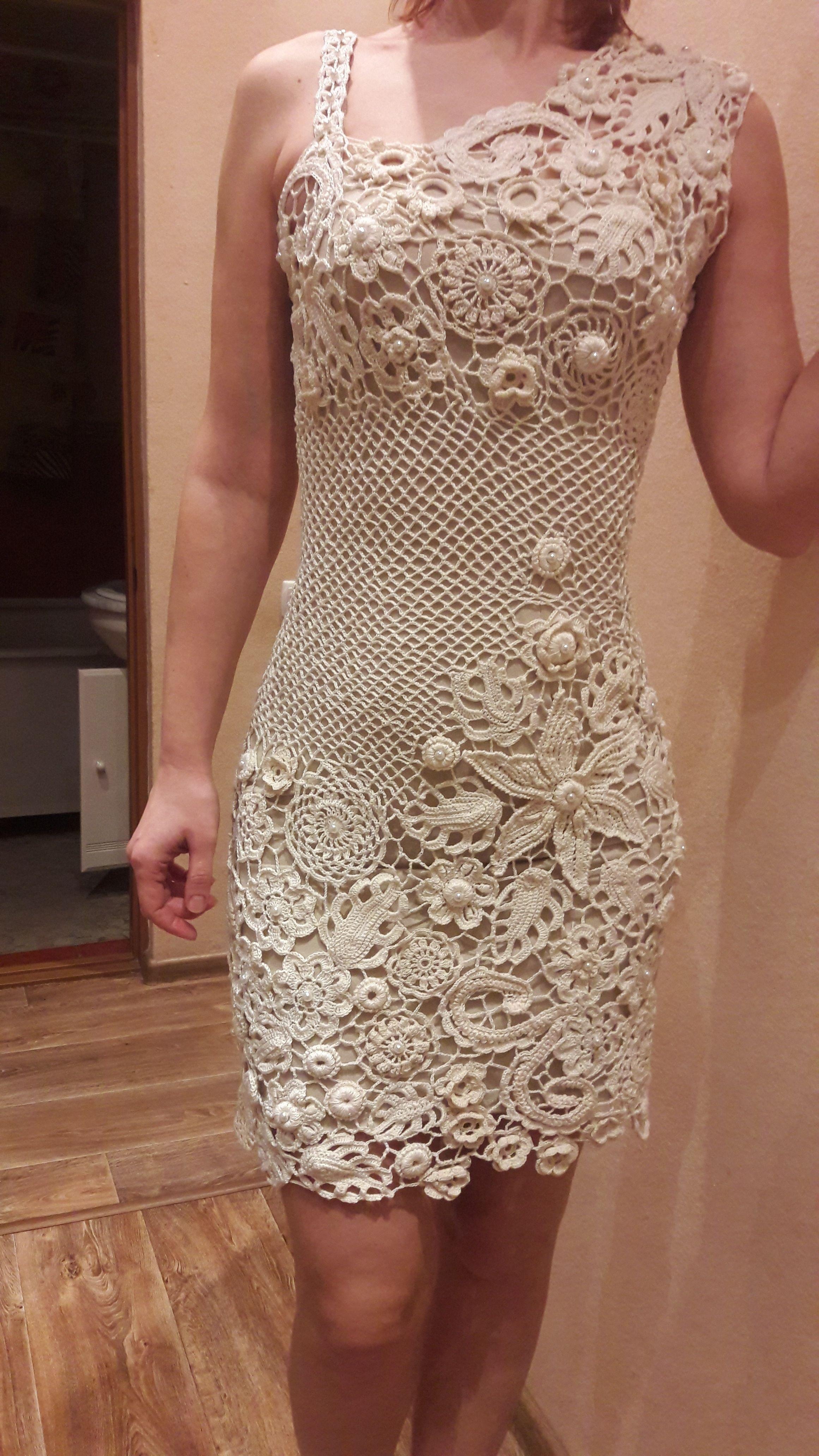f33ee52d811d Платье для доченьки Vestido De Croche Branco, Crochê Bonito, Crochê  Fashion, Saida De