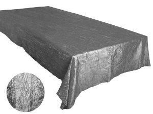 "ArtOFabric 60x102"" Crinkle Taffeta Tablecloth Overlay - Silver by ArtOFabric, http://www.amazon.com/dp/B00KSSUMGQ/ref=cm_sw_r_pi_dp_vQKBvb1EZJB6Q"