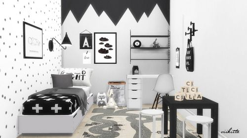 Teppich Babyzimmer Junge Sims 4 Cc's - The Best: Scandinavian Nursery By Viikiita