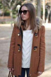 Mode Femme · Zara · Automne Hiver · Vestes · Zara Duffle Coat with Fur Hood  in Camel Mode, Manteau, Hiver, Tenues D a0a234d56907