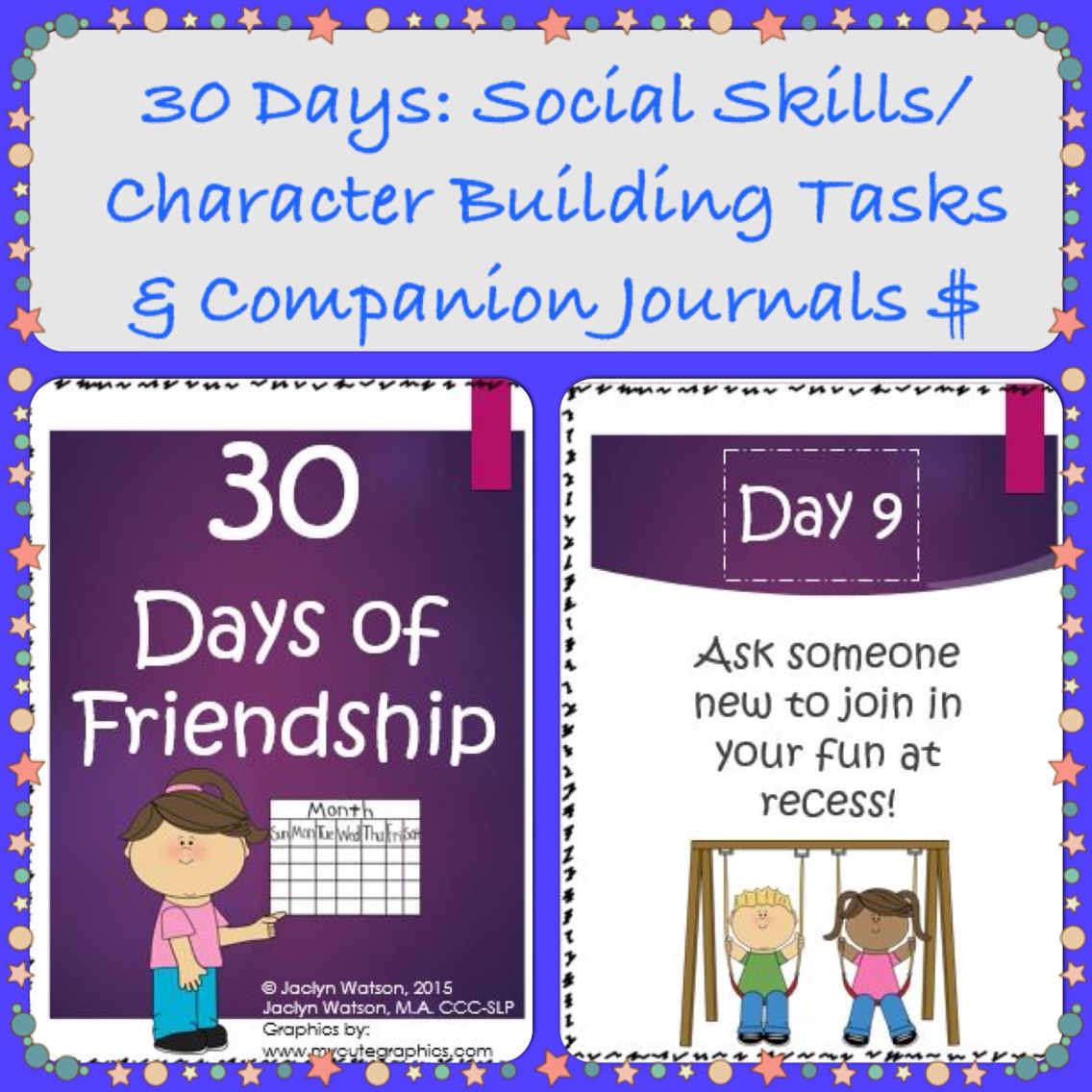 30 Days Of Friendship Social Skills Character Building