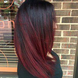 Ciao Bella Salon Gainesville Fl United States Deep Red Balayage Hair Painting Coloracion De Cabello Pelo Tenido Belleza Del Cabello