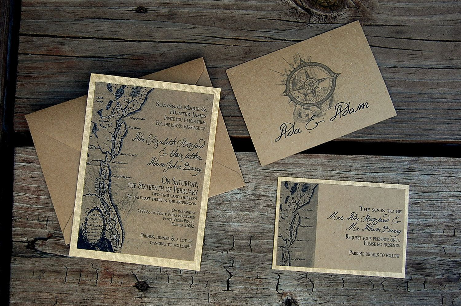 Customized Vintage Old World Map Wedding Invitations For Any Location 3 00 Via Etsy