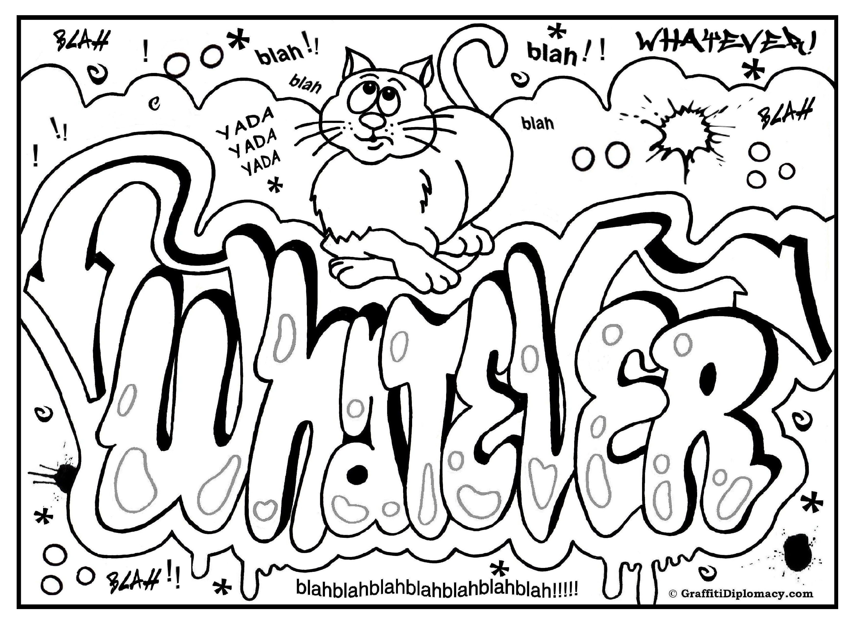 OMG! Another Graffiti Coloring Book of Room Signs - Learn to draw