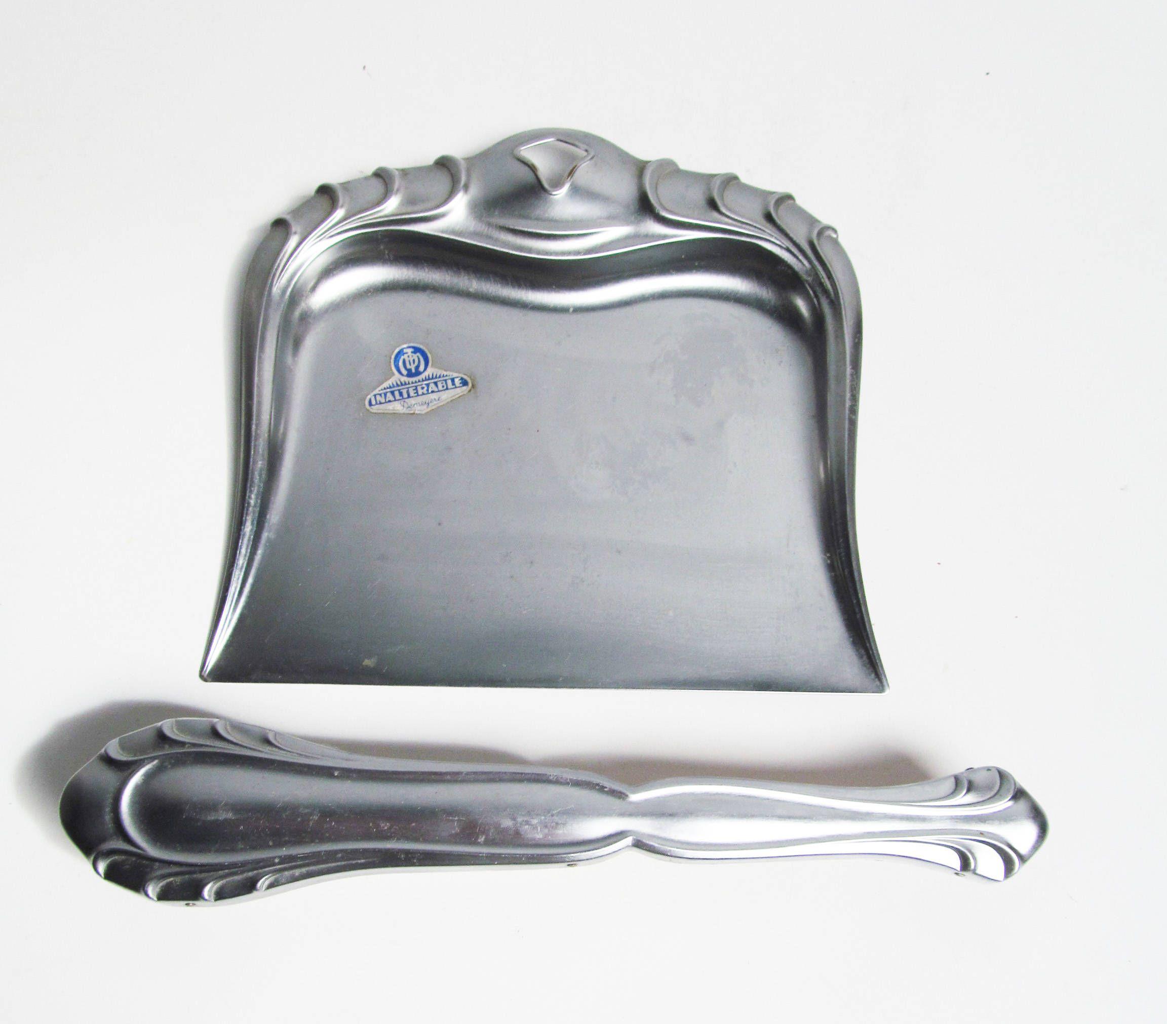 Vintage Metal Dust Pan Crumb Catcher Silent Butler Crumb Collector Dust Pan