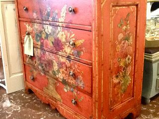 decoupage ideas for furniture. Lovely Decoupaged Dresser.Close Ups On The Blog ♥ Decoupage Ideas For Furniture