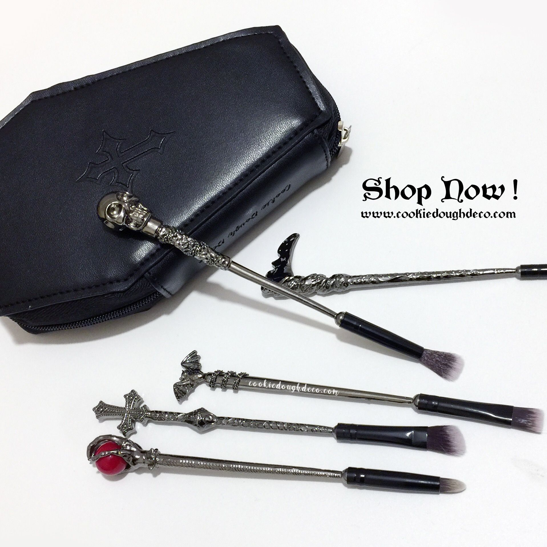 Photo of Crypt Makeup Brushes Brush Set with Optional Coffin Case