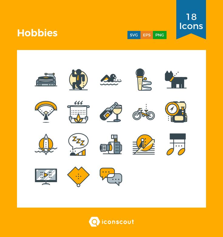 22+ Hobbies Icon  Background