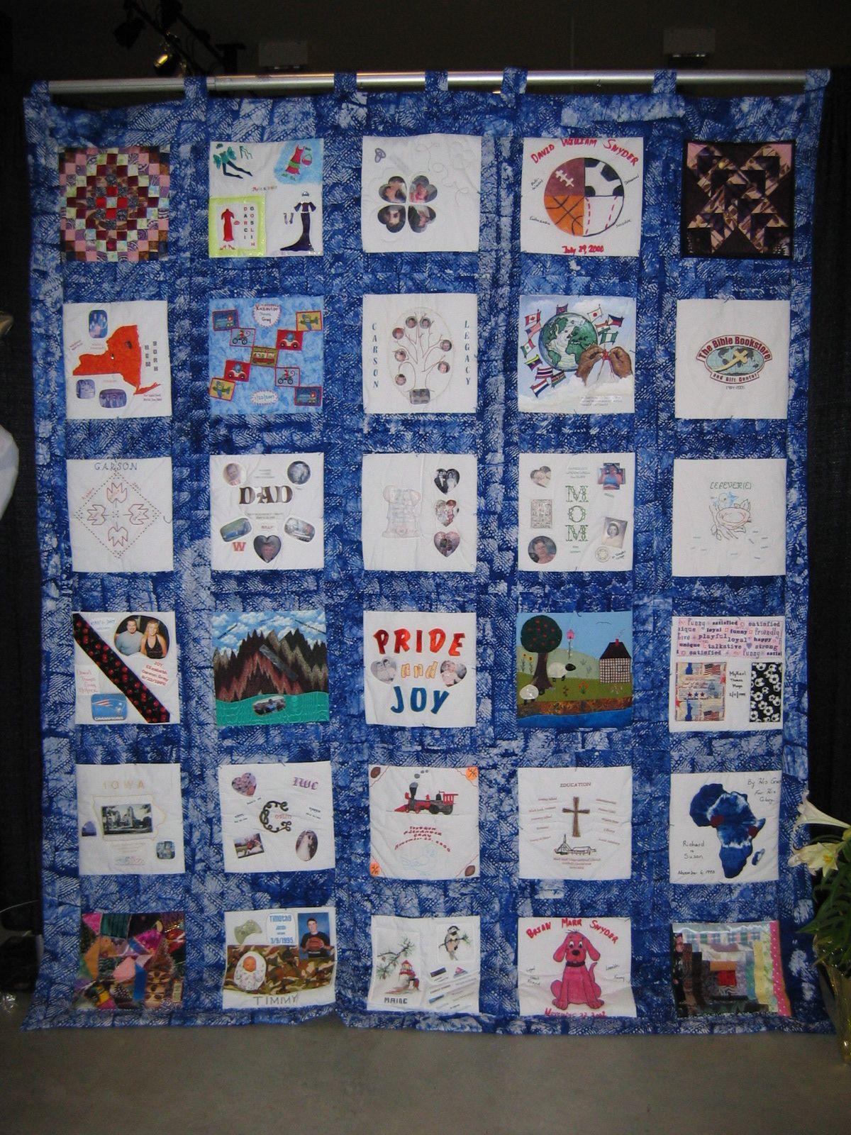 memory quilt - 50th anniversary | quilt ideas | pinterest