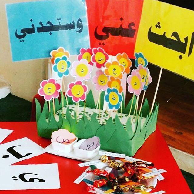 ثيمات وسائل تعليمية ومطويات On Instagram وسيلة تعليمية حديقة الحرووف Diy Teacher Gifts Art For Kids Learn Arabic Alphabet