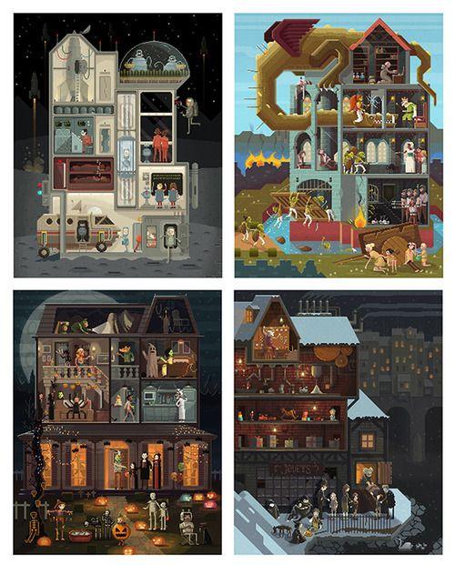Pixels, Huh. Pixel Art illustrations by Octavi Navarro.