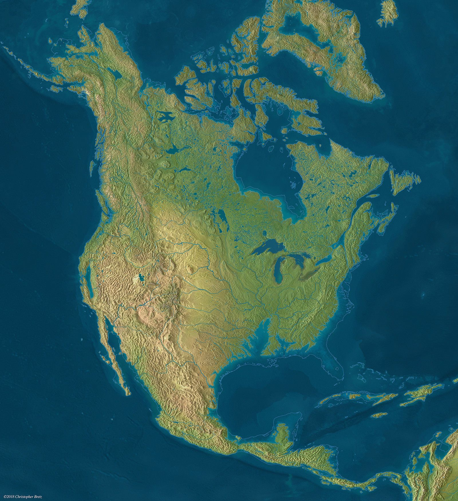 North America Sea Level Rise If All The Ice On The Land Melts