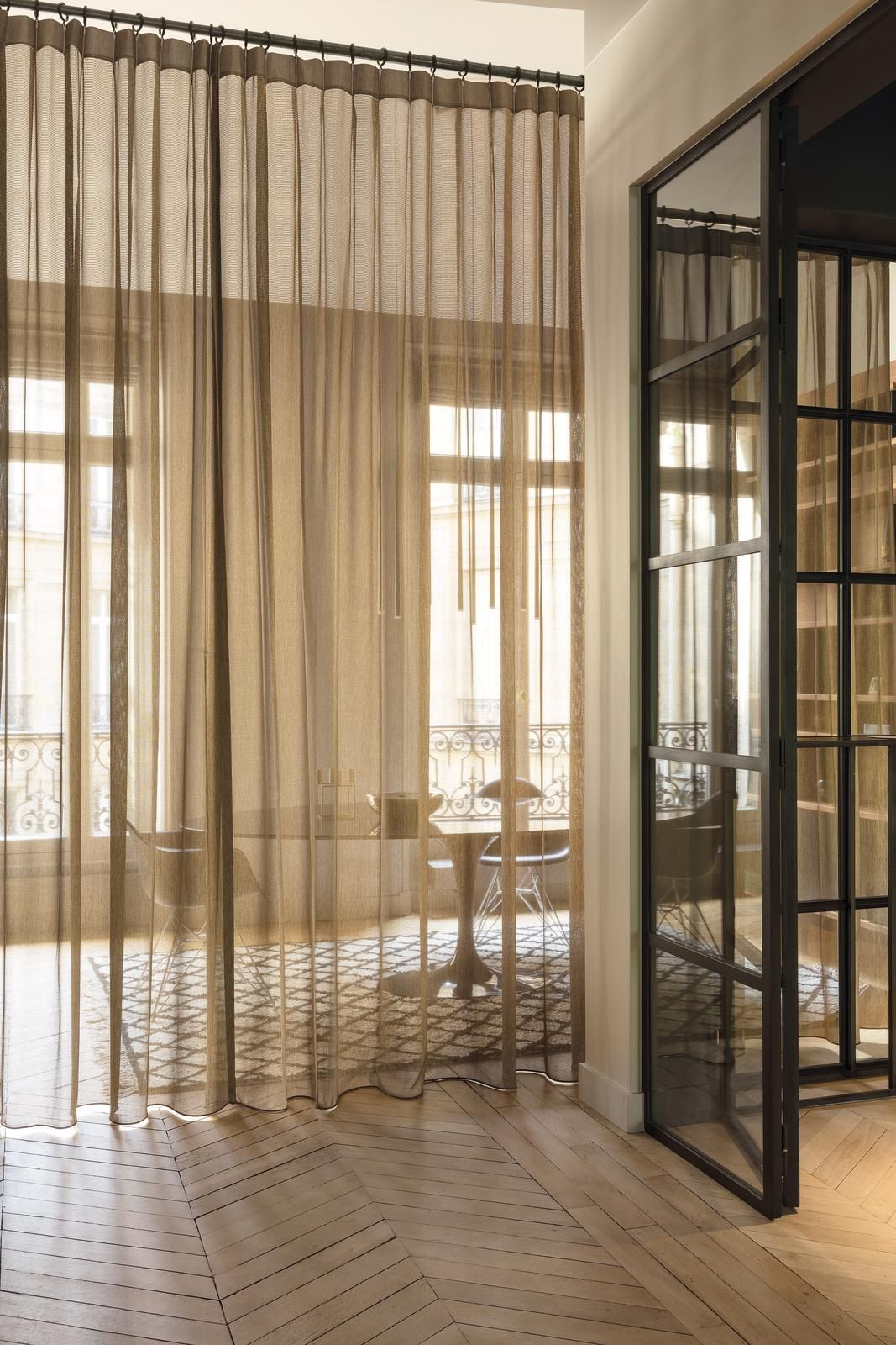 Transparent curtains as room divider we love curtains pinterest