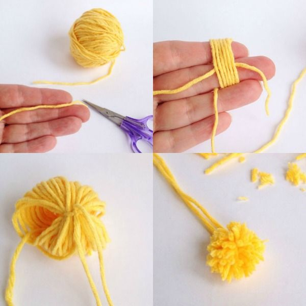 How to make a mini pom pom mypoppet.com.au
