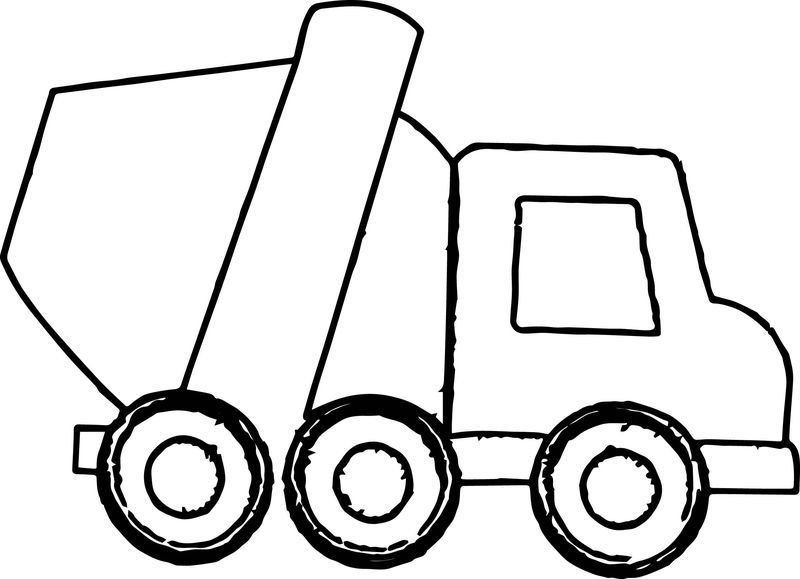 Cement Truck Smaller Coloring Page Also See The Category To