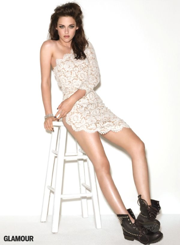 Kristen Stewart White Dress June 2017