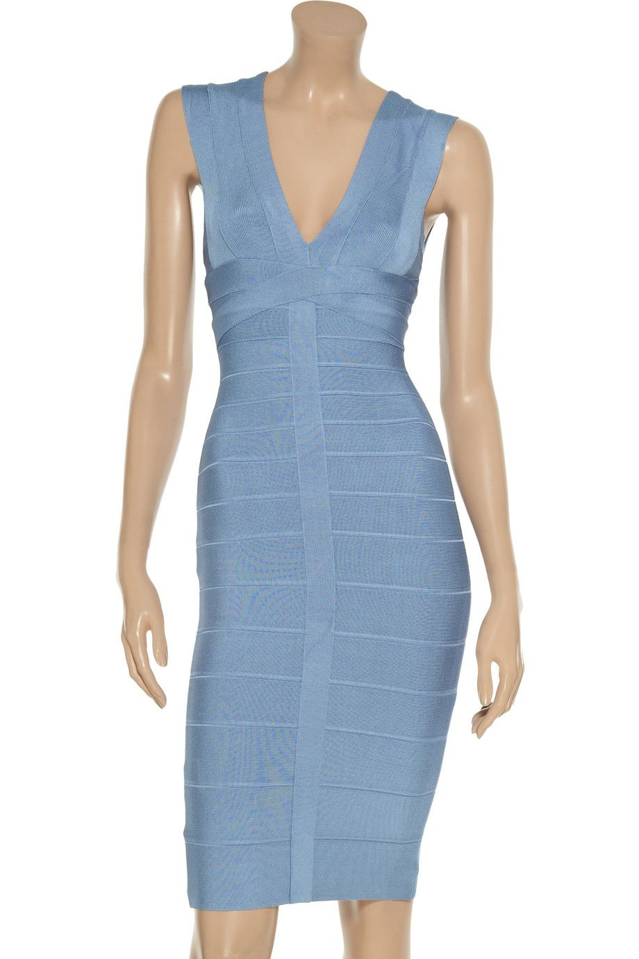 ab9cf8907496c Discount designer clothes for women sale. Hervé Léger V-neck bandage dress  - 50% Off Now at THE OUTNET