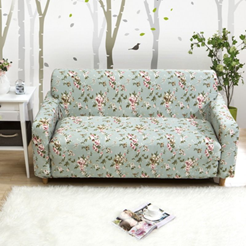 All Inclusive Universal Elastic Printed Sofa Cover L Shaped Double Single  Seater Home Decor Cover