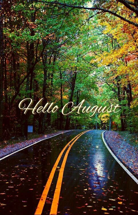 Hello August wallpaper lock screen background for