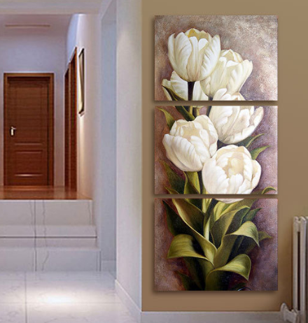 Cool piece living room modern wall flower decorative art pictures print on canvas no frame  cmx pcs also