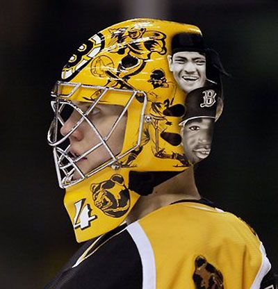 Image result for hannu toivonen bruins mask