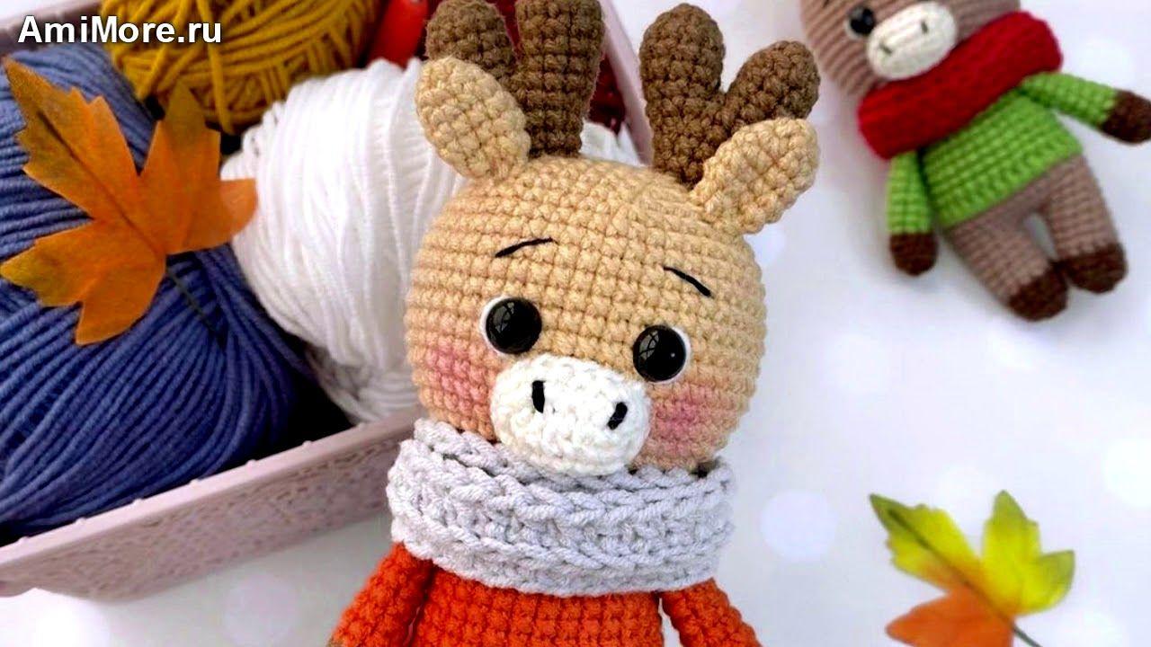 МК Олень крючком. FREE crochet pattern deer; Аmigurumi animal patterns. Амигуруми схемы на русском.