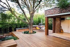 Resultado de imagen de wooden courtyard design
