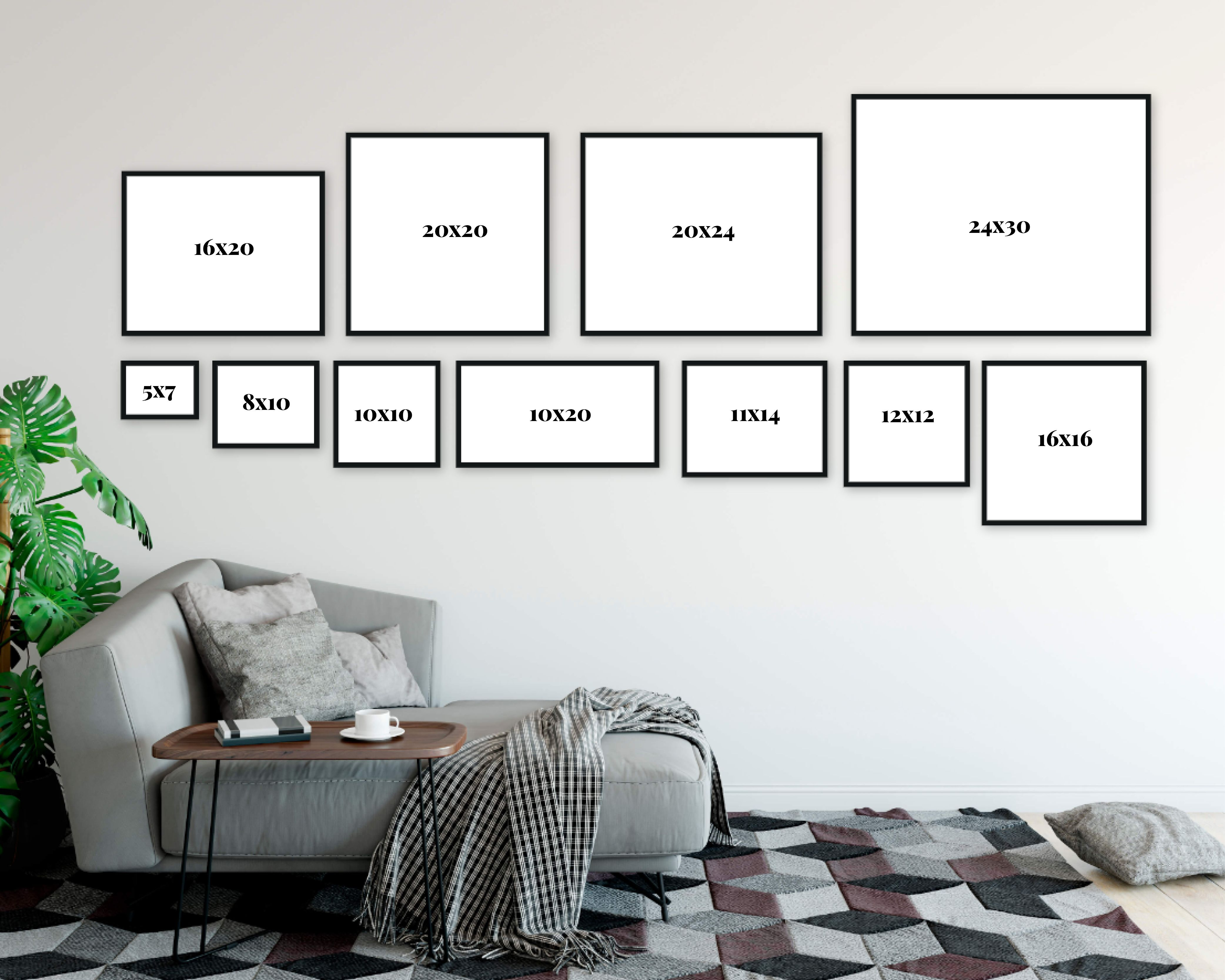 Resources Wall Art Size Comparison Reference Free Download Erin Clayton In 2020 Gallery Wall Inspiration Wall Gallery Inspiration Wall