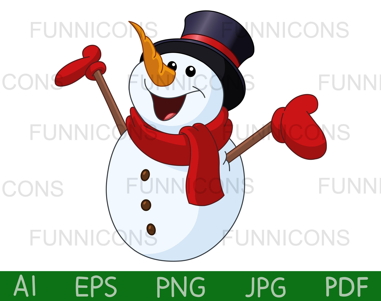 Christmas Clipart Snowman Vector Illustration Ai Eps Png Pdf Etsy Christmas Tags Printable Christmas Clipart Christmas Tag