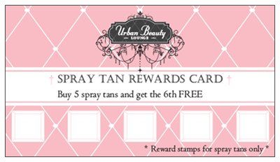 Did You Know Vistaprint Has Loyalty Cards Check Mine Out Spray Tan Salons Spray Tan Business Spray Tanning