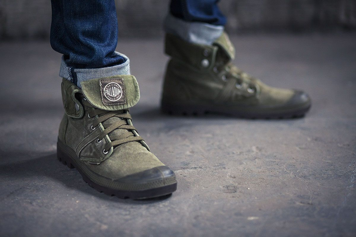 Pallabrouse Baggy Dark Olive/Dark Gum (Canvas)