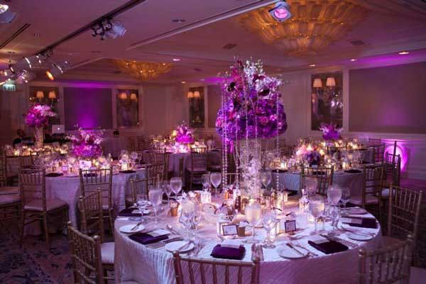Lovely Purple And Silver Wedding Centerpieces Purple Wedding