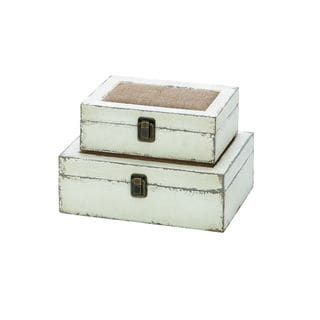 Grey wooden burlap box set of overstock shopping the best deals on accent pieces heather chapman new house also images in diy ideas for home future rh pinterest
