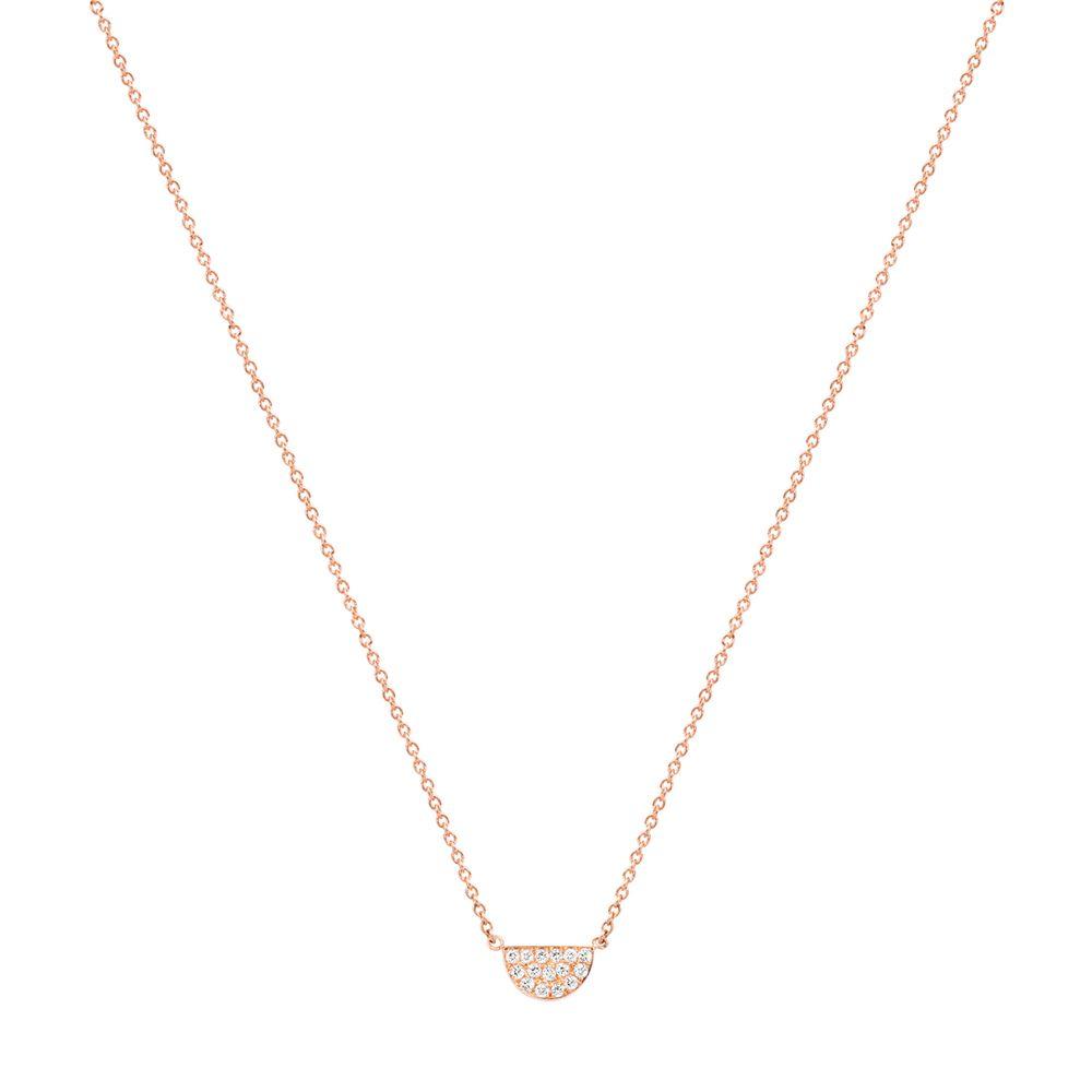 New Baby Girl Half Moon Pave Diamond Necklace Diamond Necklace Designs Pave Diamonds Necklace