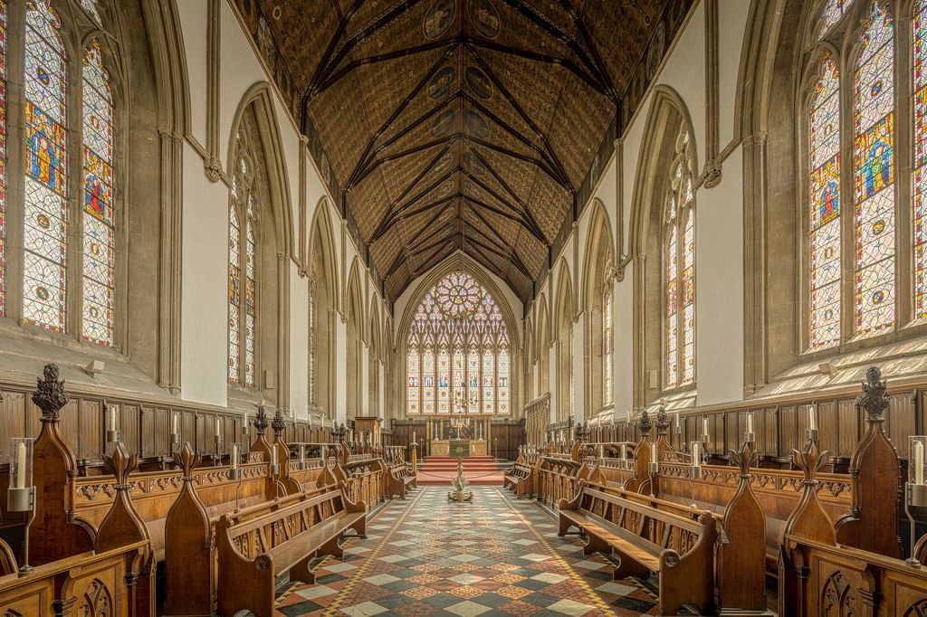 University Of Oxford Merton College Chapel England Uk And Oxford - Where is oxford located