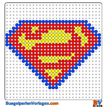 superman schild b gelperlen vorlage auf kannst du eine gro e auswahl. Black Bedroom Furniture Sets. Home Design Ideas