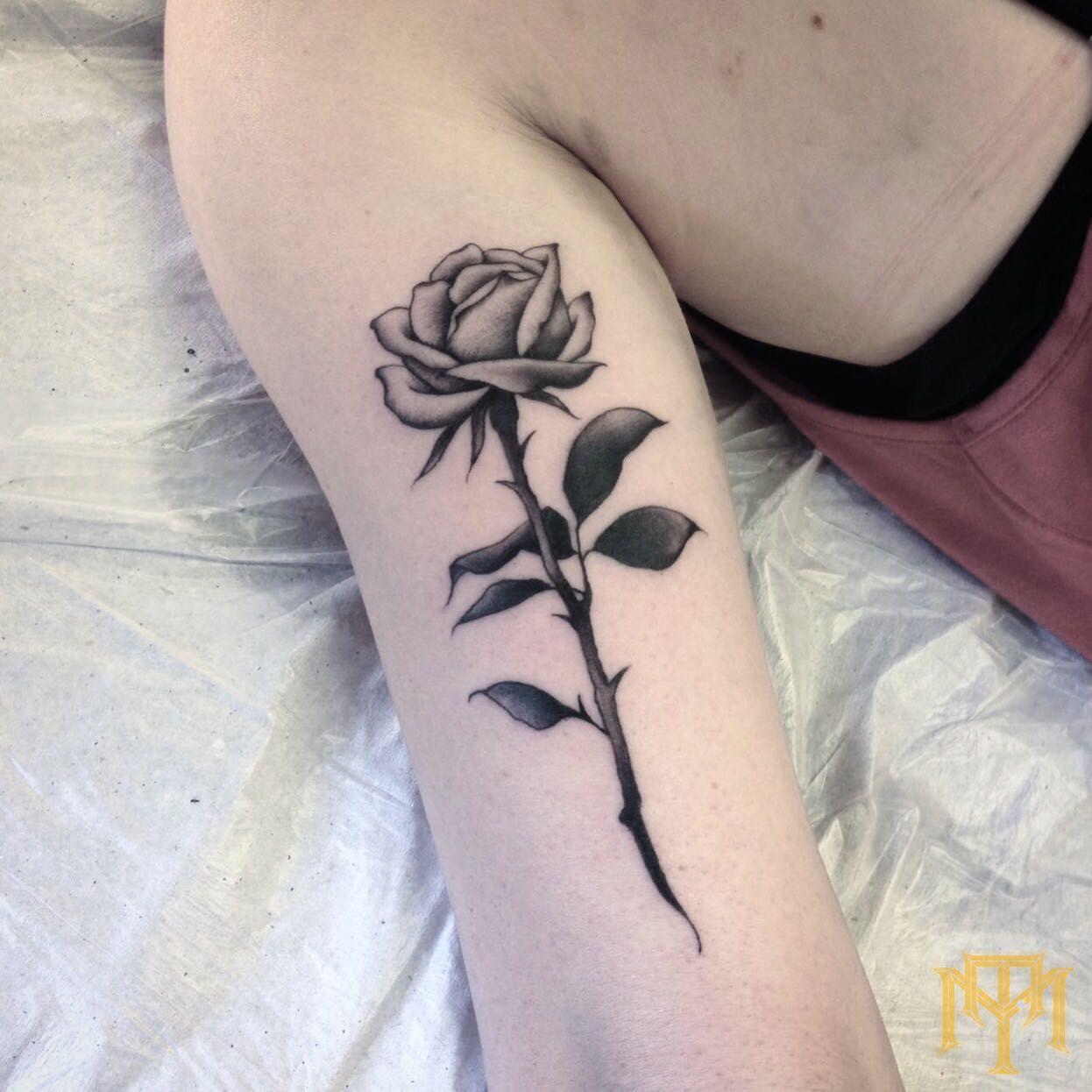 Rose Tattoo By Luke Smith From TRADE MARK Tattoo Durban