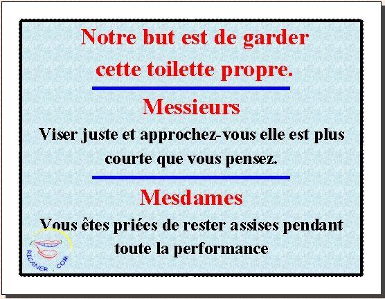 Affiche Garder Cette Toilette Propre Toilettes Propres