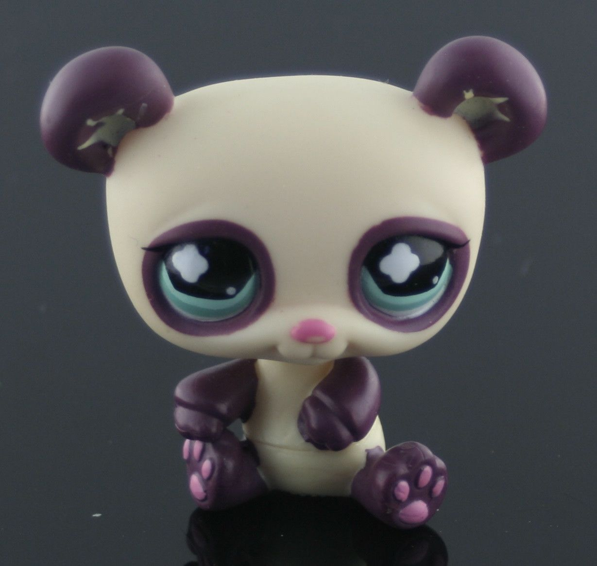 Littlest Pet Shop Cream Purple Panda W Aqua Eyes 822 Pet Shop Little Pets Littlest Pet Shop