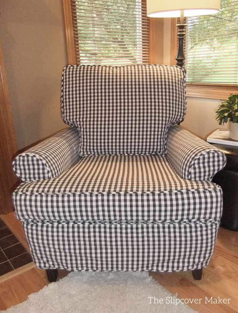 Slip Covers For Chairs Charcoal Gingham Chair Slipcover Slipcovers Slipcovers For
