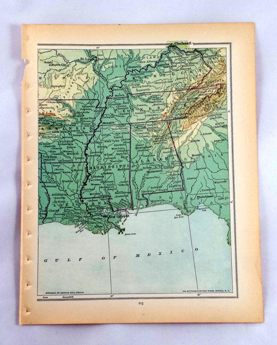 Check out this item in my Etsy shop https://www.etsy.com/listing/218669919/central-us-map-antique-map-of-north